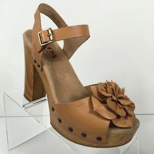 Korks by Kork-Ease Platform Heel Flower Sandals